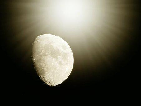 Moon, Black, Night, Mood, Night Photograph, Darkness