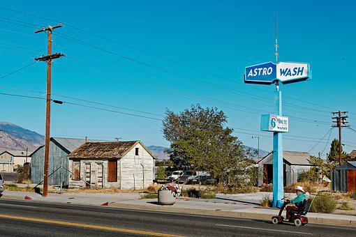 Hawthorne, Nevada, Usa, City, Blue, Sky, Dry, Nature