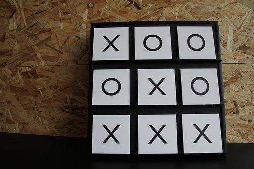 Play, 3 Wins, X, O, Board Game