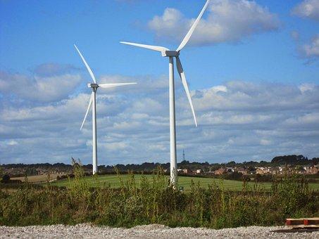 Windfarms, Farming, Wind, Farm, Energy, Power