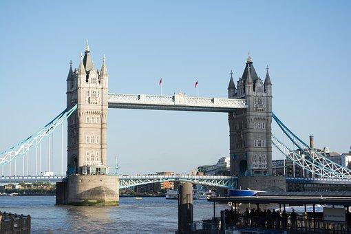London, Tower Bridge, England, River Thames, Bridge