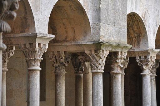 Cloister, Romanesque, Girona, Monastery