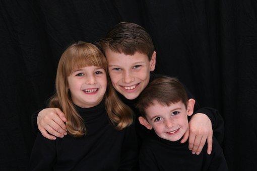 Siblings, Three Children, 3 Kids, Laughing