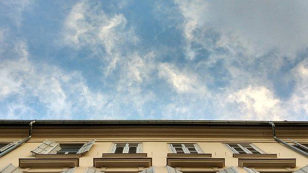 Facade, Sky, Clouds, Filaments