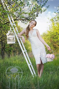 Girl, Plein Air, Portrait, Nature, Summer, Smile, Fine