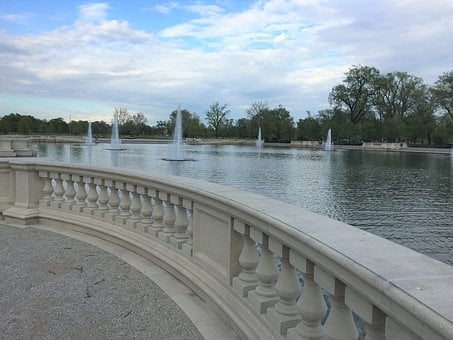 Forest Park, Emerson Grand Basin, St Louis, Fountains