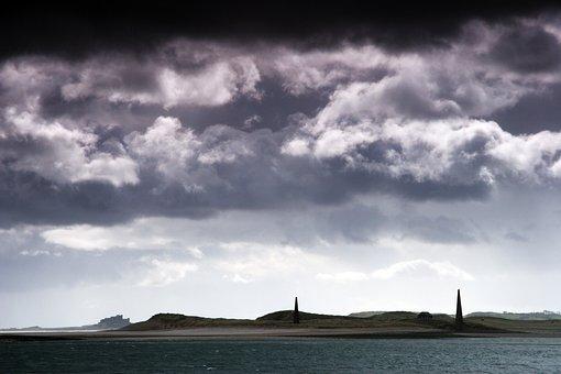Coastline, Northumberland, Sea, England, Tourism