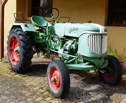 Tractor, Agriculture, Oldtimer, Tractors, Old