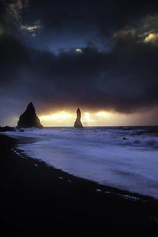 Iceland, Vik, Landscape, Icelandic, South, Beach