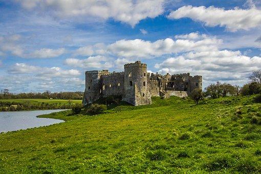 Carew Castle, Building, Monument, Wales, England