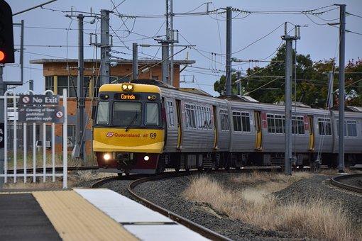 Australia, Brisbane, Train, Corinda, Queensland