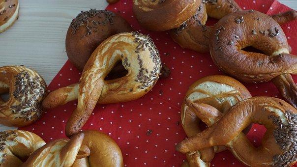 Pretzels, Pretzel, Crispy, Delicious, Food, Bavarian