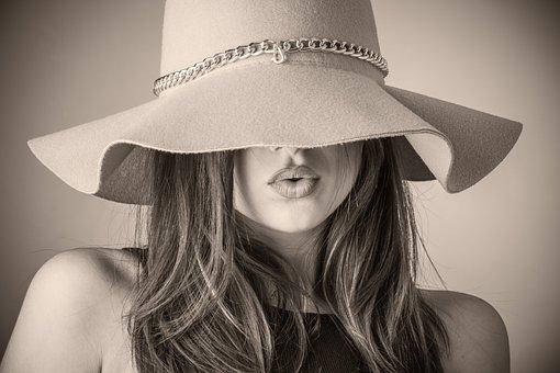 Fashion, Beautiful Woman, Woman, Hat, Covering