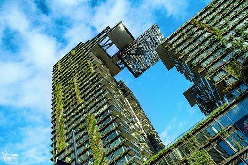 Building, Plants, Architecture, Plants On Building