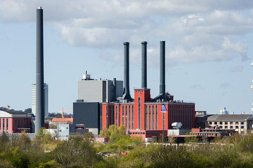 Urban, Factory, Chimney, Red, Building, Industry, Plant