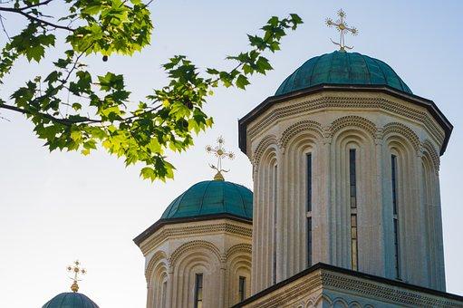 Church, Cross, Religion, Orthodox, Romanian, Monastery