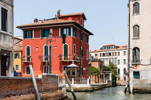 Road, Street, Water, Canal, Canals, Venice, City, Day