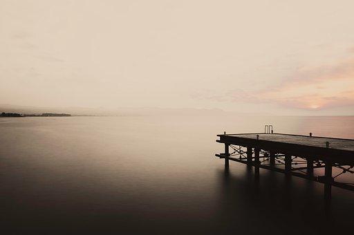 Pier, Long Exposure, Sea, Mediterranean, Calm, Coast