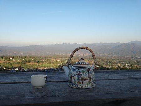 Tee, Teapot, Thailand, Pai, Highlands, View, Cozy