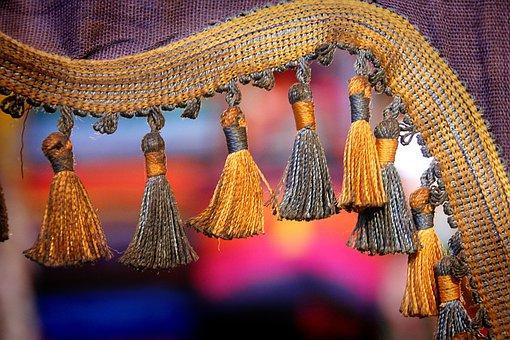 Fabric, Morocco, Ornament, Decoration, Gold, Decorative