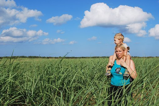 Mother, Son, Sugar Cane, Field, Love, Beautiful, Beauty
