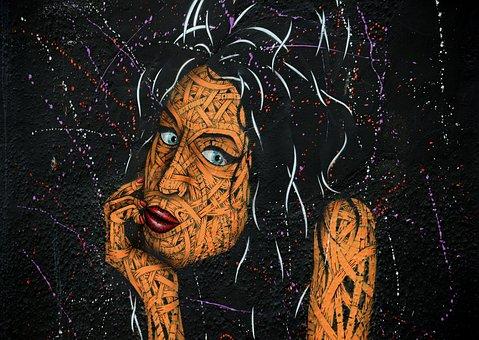 Street Art, Wall, Amy Winehouse, Mural, Graffiti, Urban