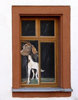Window, Illusion, Art, Facade, Painting, Funny, Humor