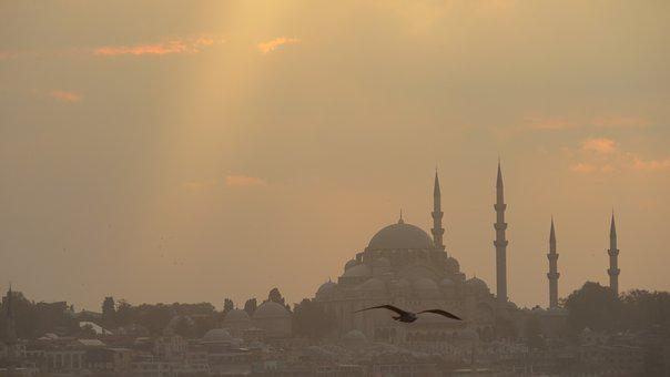 Old, Ancient, Historical, Istanbul, Sunset, Turkey