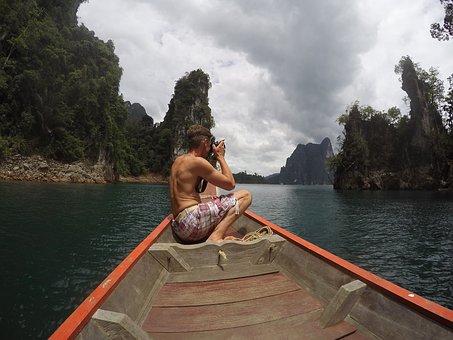 Thailand, Limestones, Lake, Khao Sok, National Park