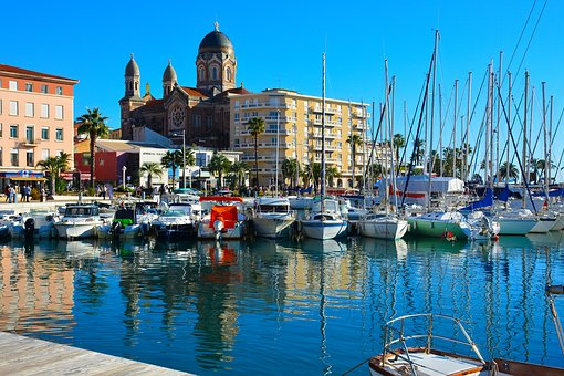 St Raphael, France, Azur, Harbour, Landscape