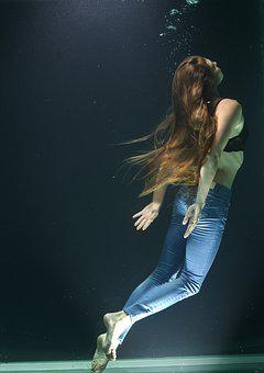 Model, Woman, Water, Fiction, Breath, Live, Life, Deep
