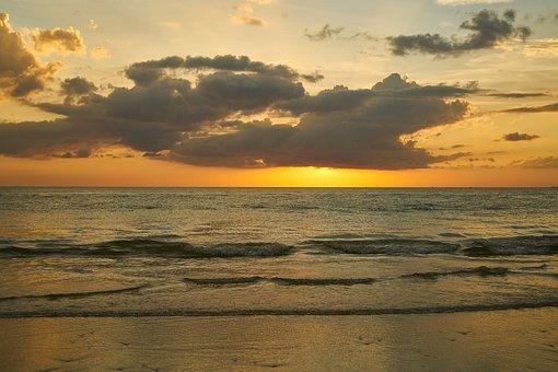 Landscape, Sunrise, Ada, Ocean, Marine, Water, Sky
