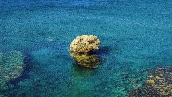 Rock, Sea, Blue, Nature, Seascape, Tranquil, Calm
