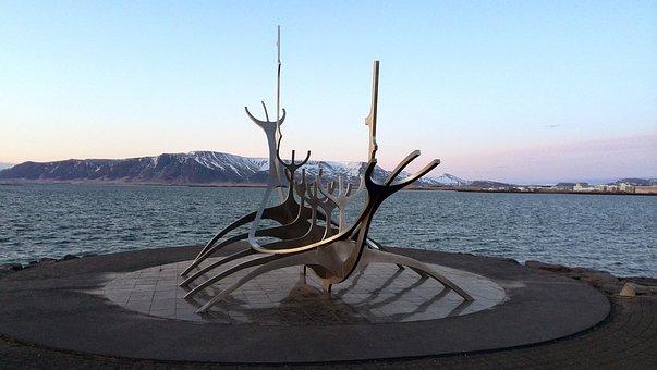 Sólfar, Solfar, Reykjavik, Sculpture, Island