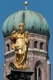 Munich, Frauenkirche, Marienplatz, Statue, Bavaria