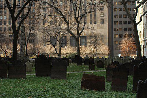 Stock Exchange, New York, Nyc, Us, Graveyard, Cemetery