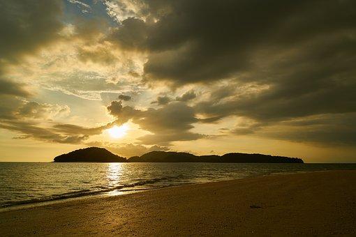 Ada, Sunset, Sky, Ocean, Nature, Holiday, Holidays