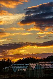 Gelsenkirchen, Resser-mark, Sunset, Abendstimmung