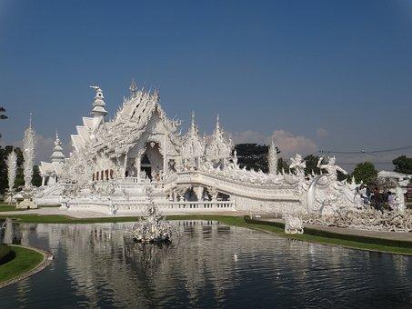 White Temple, Thai Land, Chiang Rai, Temple, White