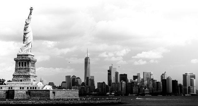 New York, Nyc, City, Usa, America, Statue Of Liberty