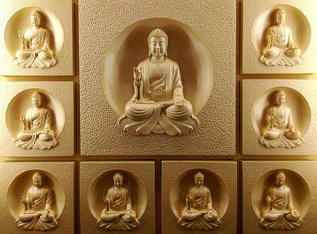 The Buddha, Buddha Statues, 釋 Jiamouni, Decorative Wall