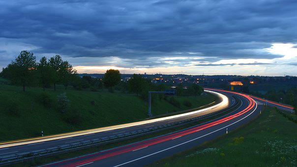 Long Exposure, Federal Street, Germany, Traffic, Autos