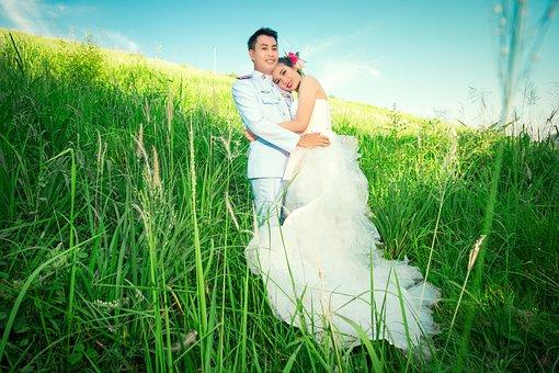 Wedding, Beauty, Cute, Dressed Up, Outdoor, Modern