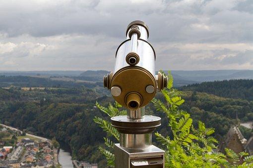 Binoculars, Vianden, Luxembourg Landscape