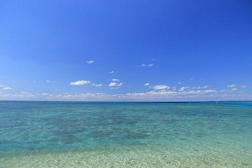 Blue Sea, Blue Sky, Okinawa, Coral Reefs, South Island