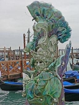 Carnival, Venice, Woman, Headdress