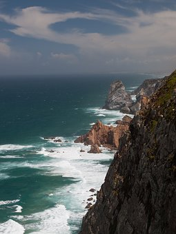Cape Roca, Cape, Portugal, Ocean, Cliff, Rocks