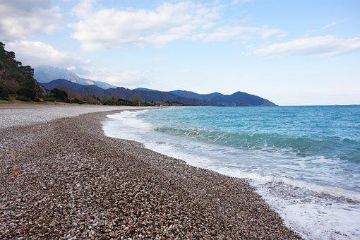 Sea, Nature, Landscape, Sky, Water, Mountains, Coast