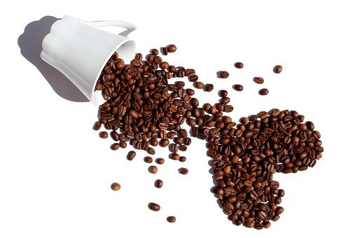 Coffee, Beans, Coffee Beans, Isolated, White