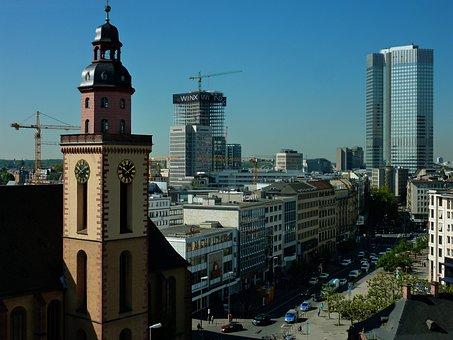 Frankfurt, Baukran, Crane, Build, Skyscraper, Cranes